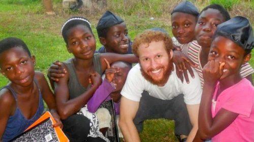 Loren Berman working with children in Ghana