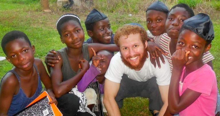 Loren Berman working with children in Ghana
