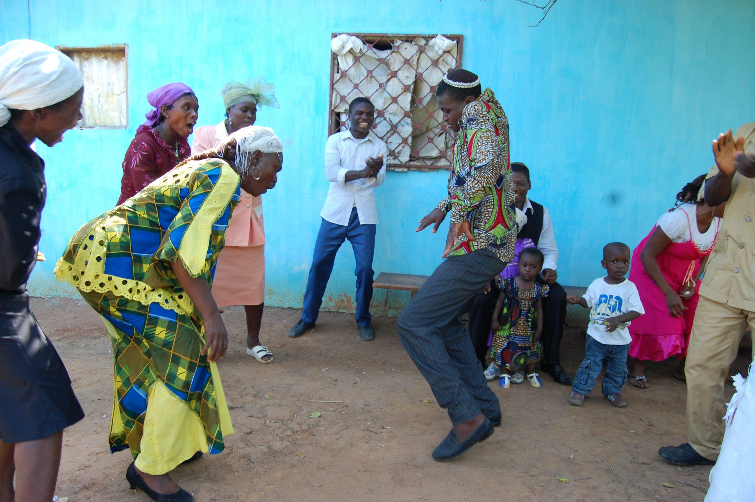 Dancing to celebrate the Torah