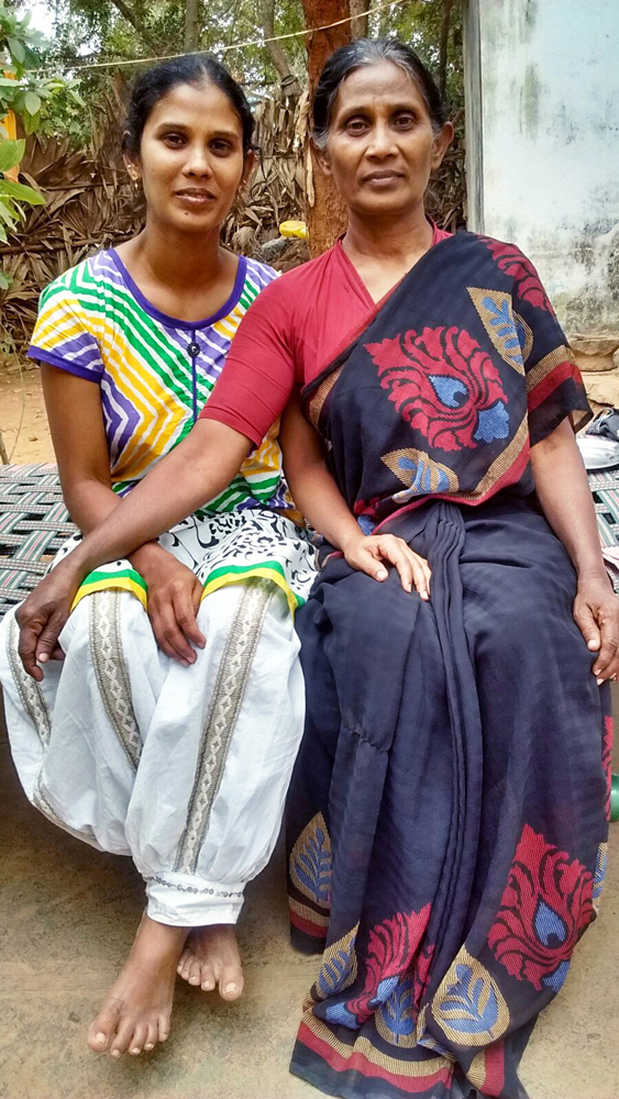 Miryam Jacobi (right) and her daughter Keziya of the Bene Ephraim Jewish Community in India (Photo Courtesy of the Jacobi Family)