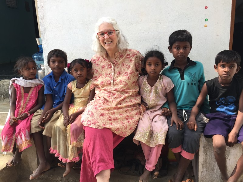 Kulanu volunteer Judi Kloper with children from the Bene Ephraim community in southeastern India. Planned giving allows your dedication to impact generations to come.