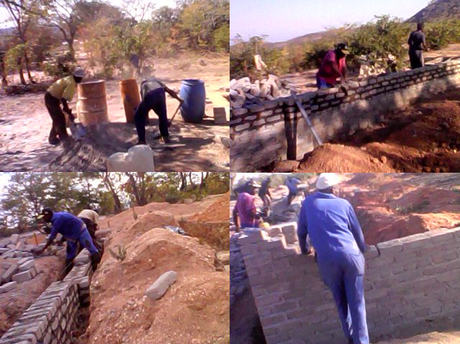 Under construction: the Great Zimbabwe Synagogue (Photos by Rabson Wuriga)