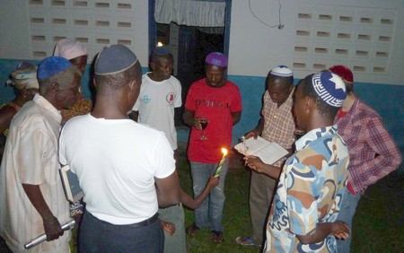 Havdalah Services in Sefwi Wiawso, Ghana (Photo by Ike Swetlitz)