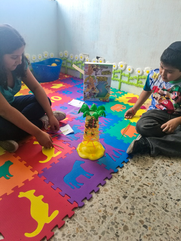 New children's space at Adat Israel in Guatemala City thanks to Jonathan's bar mitzvah project.