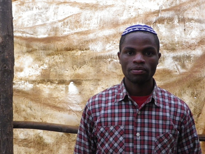 Yehudah Kimani, one of the young leaders of the Kusuku Jewish community and son of the happy wedded couple.