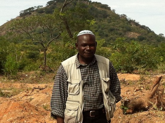 Lemba leader Rabson Wuriga at the future site of the Great Zimbabwe Synagogue Photo by Sandy Leeder