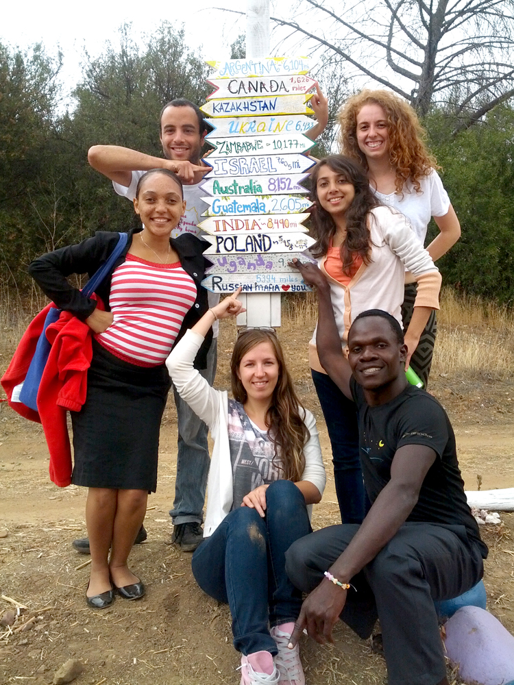 Jewish young people come to BCI from many different places. Note Kulanu-sponsored participants Rivka Orantes (center right) from Guatemala, Rachman Nachman (bottom right) from Uganda, and Sim-cha Butchart (left) from Zimbabwe