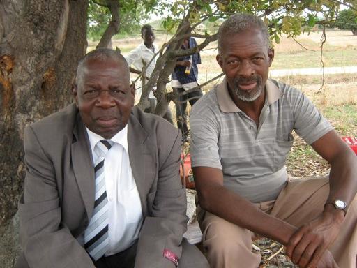 Three Lemba elders, left to right, Zano Tofa, Mr Chivhenge and Mr Cikobvu